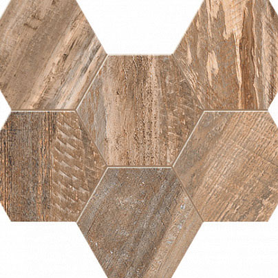 Мозаика Spanishwood Hexagon неполиров. 25х28,6 см SP 02