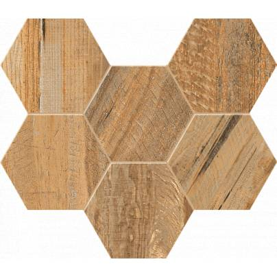 Мозаика Spanish Wood Hexagon 25x28.5 неполиров. SP 04