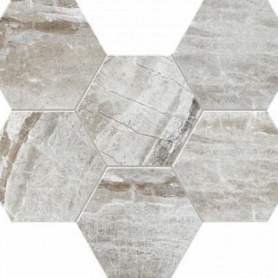 Мозаика Glatcher Hexagon сатинир. 25х28,6 см  GLv0 / GLv1
